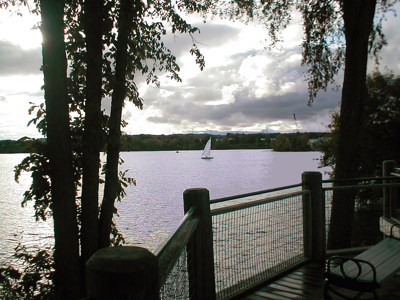 Sailboat on Boardman Lake